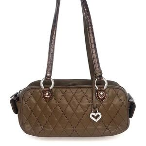 Brighton Brown Quilted Leather Shoulder Bag